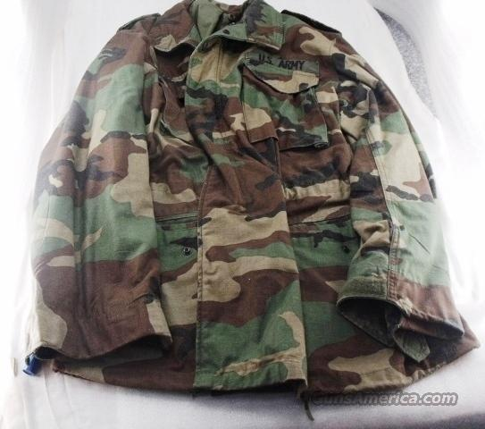 NATO Camo US Army Military Coat size Medium Exc Golden mfg ca 1980 SA0452   Non-Guns > Hunting Clothing and Equipment > Clothing > Camo Outerwear