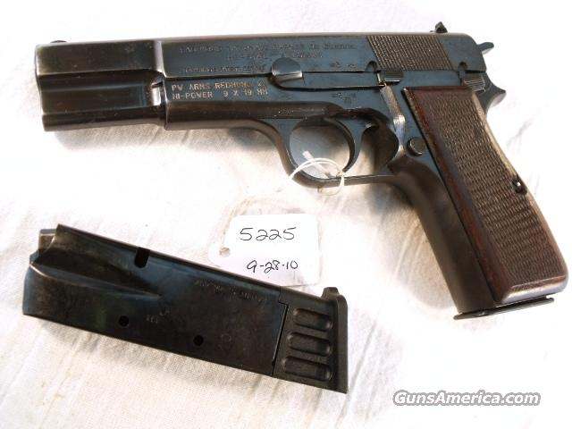 FN Browning 9mm Hi-Power Israeli Good ca 1948 w/2 Magazines  Guns > Pistols > FNH - Fabrique Nationale (FN) Pistols > High Power Type