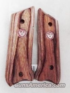 Ruger Red Logo Laminate Wood Grips for MKII or MKIII Pistols .22 LR No MkI No 22/45 New  Non-Guns > Gunstocks, Grips & Wood