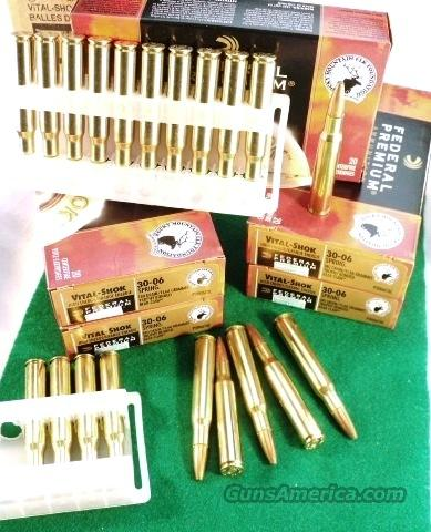 Ammo: .30-06 Federal Premium Vital-Shok 180 gr Trophy Bonded 20 Box  Non-Guns > Ammunition