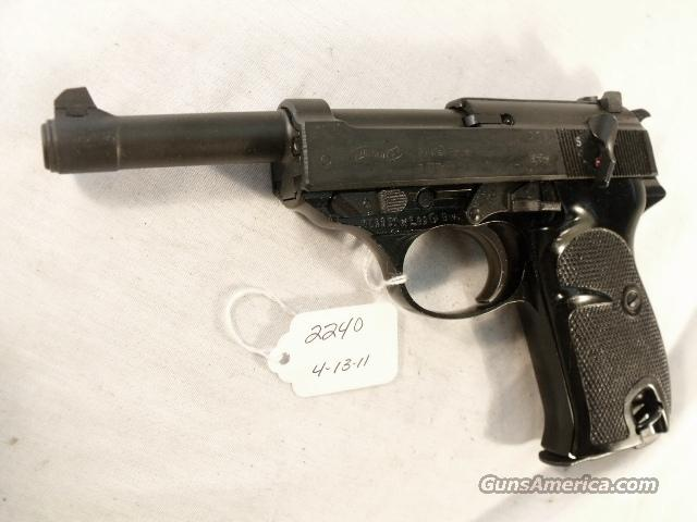 Walther 9mm P-38 variant P1 Lightweight Parkerized Steel Excellent 1977 P38 P-1 Federal German Police Bundespolizei CA OK  Guns > Pistols > Walther Pistols > Post WWII > Large Frame Autos