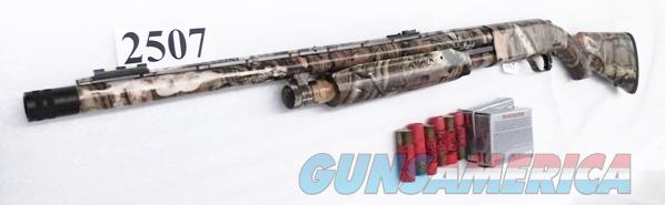 Mossberg 12 gauge model 535 MOBU Camo 3 1/2 inch 22 in Turkey XF Vent Rib Fiber Optic Red Green LPA Trigger Exc in Box 45453 3.5 Magnum Pump Shotgun Slug Compatible  Guns > Shotguns > Mossberg Shotguns > Pump > Sporting