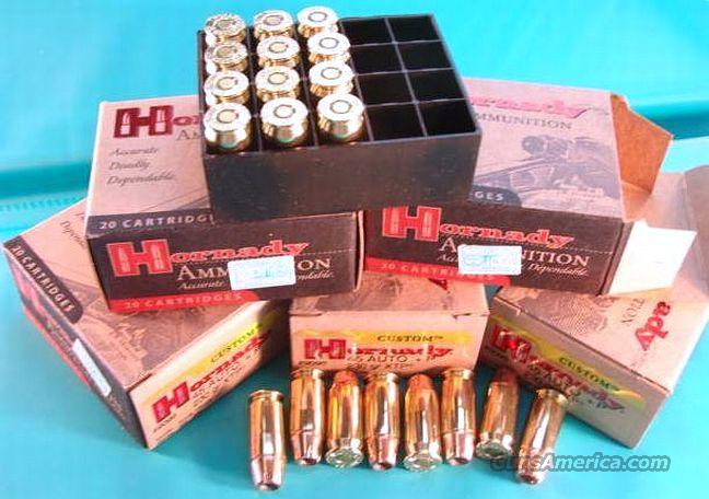 Ammo: .45 ACP +P Hornady 100 Round Lot of 5 Boxes XTP 230 grain 45 Auto Jacketed Hollow Point JHP Ammunition Cartridges  Non-Guns > Ammunition