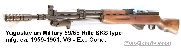 Yugo 7.62 x 39 SKS 59/66 VG-Exc & Greasy ca. 1960 S-K-S 762 C&R OK but no California   Guns > Rifles > Century Arms International (CAI) - Rifles > Rifles