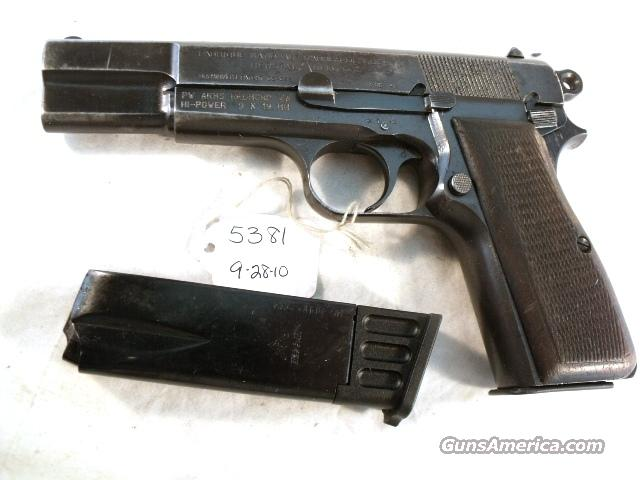 FN Browning 9mm Hi-Power Israeli G-VG ca 1948 w/2 Magazines  Guns > Pistols > Browning Pistols > Hi Power