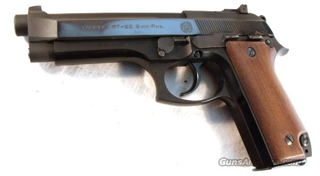 Taurus 9mm PT-99 Adjustable 1983 Mfg Euro Mag Release Near Mint in Box  Guns > Pistols > Taurus Pistols/Revolvers > Pistols > Steel Frame