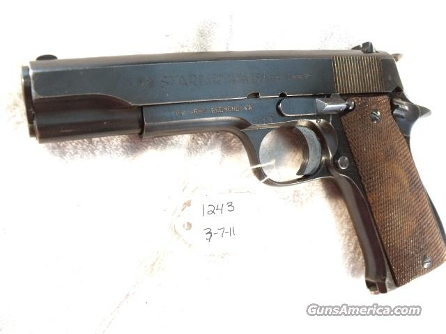 Star 9mm Model B Colt Government Size Steel Frame 1956 Israeli Army Police VG 1 Magazine  Guns > Pistols > Military Misc. Pistols Non-US