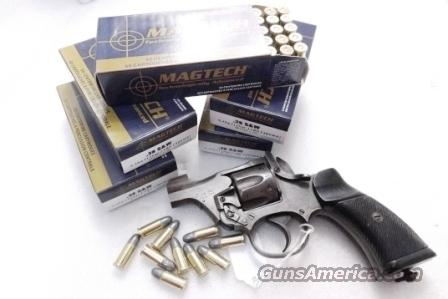 Ammo: .38 S&W Caliber Mag-Tech 146 grain Lead Round Nose 250 Round Lots of 5 Boxes Ammunition Cartridges 38 Smith & Wesson Short Not Special Not Super  Non-Guns > Ammunition