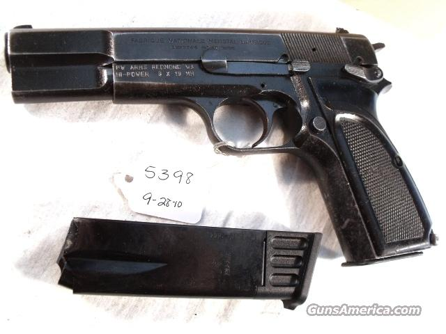 FN Browning 9mm Hi-Power Mark II Israeli Army Police 1985 High Power HiPower Belgian Belgium  Guns > Pistols > Browning Pistols > Hi Power