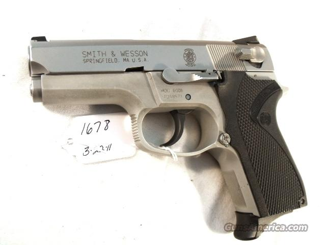 Smith & Wesson 9mm model 6906 Compact Lightweight Stainless 13 Shot 1 Magazine VG-Exc 1990 California Department of Corrections S&W 469 669 Descendant  Guns > Pistols > Smith & Wesson Pistols - Autos > Alloy Frame