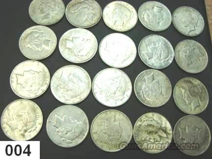 Silver: Roll Lots of 20 Peace Dollars 1922-23 Very Fine Condition  Non-Guns > Coins