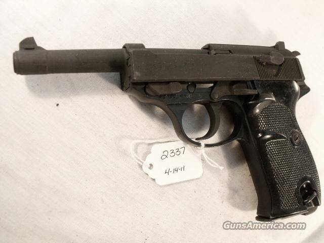 Walther 9mm P-38 variant P1 Lightweight Parkerized VG-Exc 1974 P-1 Federal German Police Bundespolizei CA OK P38   Guns > Pistols > Walther Pistols > Post WWII > P38