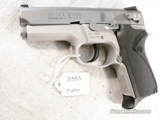 S&W 9mm model 6906 Compact Lightweight Stainless 13 Shot 1 Magazine VG-Exc 1990 California Department of Corrections Smith & Wesson 469 669 Descendant  Guns > Pistols > Smith & Wesson Pistols - Autos > Alloy Frame