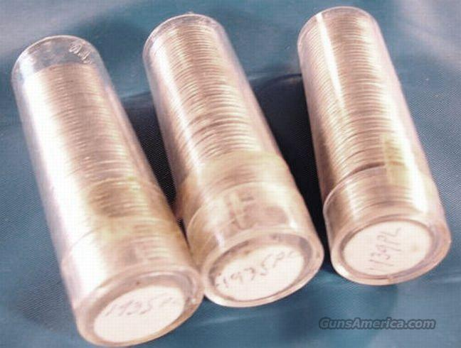 Silver: 1935 & 1939 Mercury Dimes 3 Roll Lot 150 Count $15 Face 90% Silver  Non-Guns > Coins
