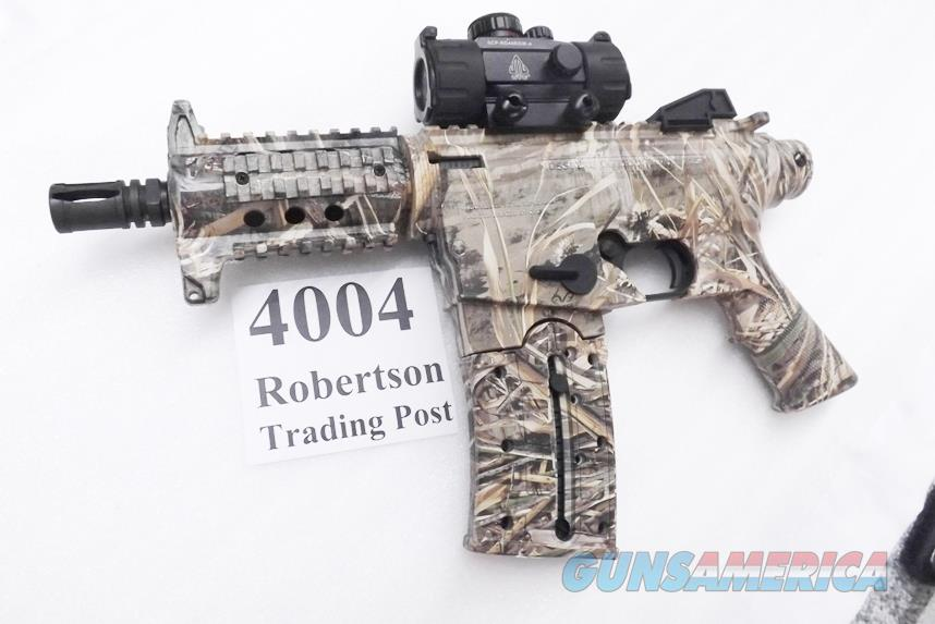 Mossberg .22 LR model 715P Duck Commander AR15 type Pistol Realtree Camo Picatinny Rails Red / Green Dot Sight 6 inch Cage Suppressor   Guns > Pistols > Tactical Pistols Misc.