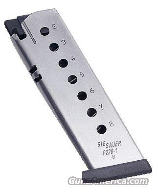 Magazine Sig Arms .45 Factory P-220 Stainless 8 Shot Exc   Non-Guns > Magazines & Clips > Pistol Magazines > Sig