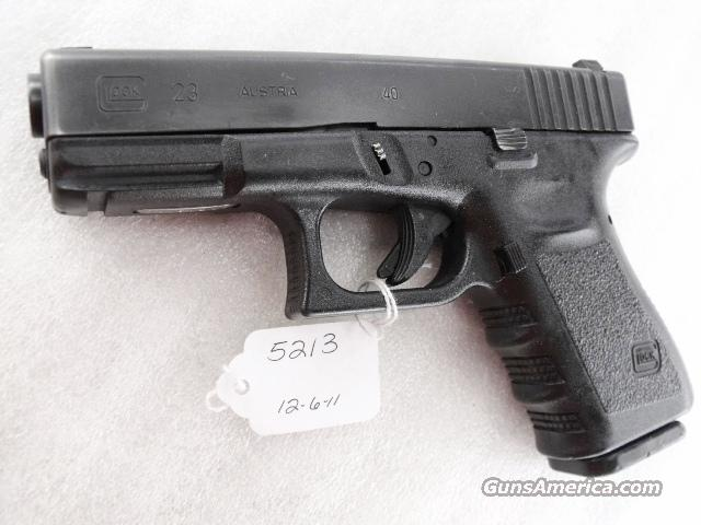 Glock .40 S&W Model 23 Third Generation 14 Shot 1 Magazine PA 1999 mfg  Guns > Pistols > Glock Pistols > 23