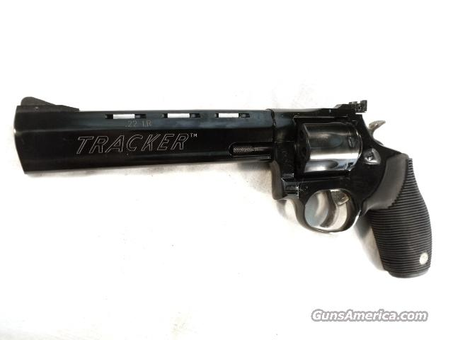 Taurus .22 LR Model 970 Tracker 6 1/2 inch Full Lug Vent Rib Adjustable Blue Steel 7 Shot NIB Smith & Wesson model 17 Descendant   Guns > Pistols > Taurus Pistols/Revolvers > Revolvers