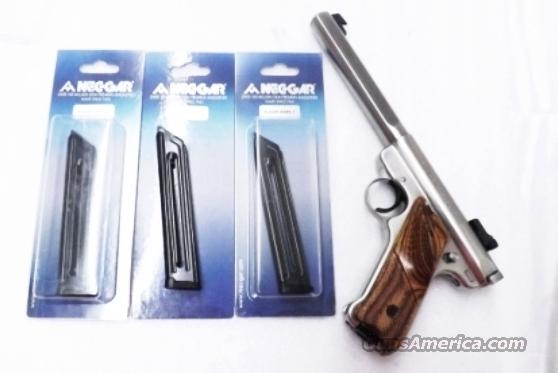 Ruger Mark II Mec-Gar® 10 Shot Magazines .22 LR Mk II Series Pistols Only Mk 2 Blue Steel 22 Long Rifle caliber   Non-Guns > Magazines & Clips > Pistol Magazines > Other