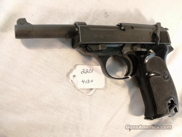 Walther 9mm P-38 Parkerized Lightweight VG 1963 Federal German Police Bundespolizei P1 P38  Guns > Pistols > Walther Pistols > Post WWII > Large Frame Autos