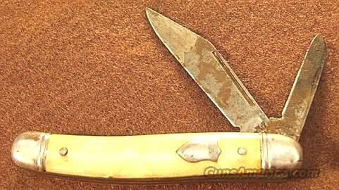 Imperial 2-blade Jack Peanut Pattern Imitation Pearl VG 1950s Dollar Knife  Non-Guns > Knives/Swords > Knives > Folding Blade > Imported