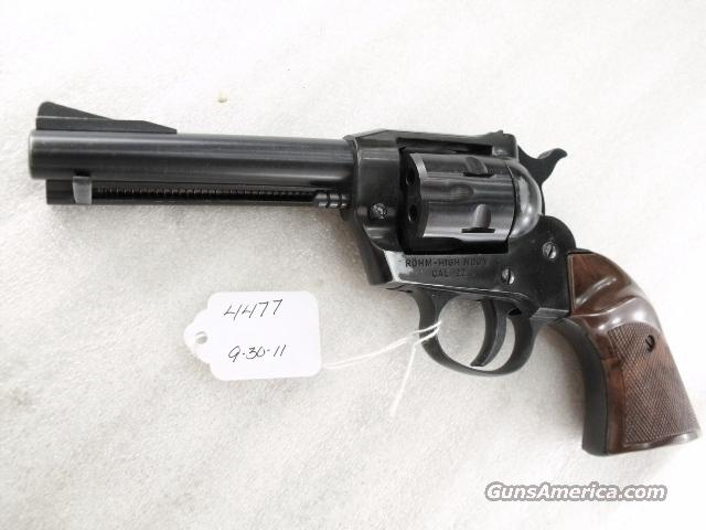 RG .22 LR High Noon RG-66 variant Single Action mfg ca 1984 Rohm 22 Long Rifle caliber 4 1/2 inch 6 Shot Very Good ca 1984  Guns > Pistols > Surplus Pistols & Copies
