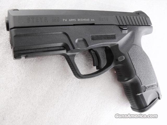 Steyr 9mm M-9A1 Unissued Unfired in Box with Manual 16 Shot 2 Magazines Trapezoidal Sights Austria Steyr Mannlicher Shteyr 9x19 M9 Police Variant  Guns > Pistols > Steyr Pistols