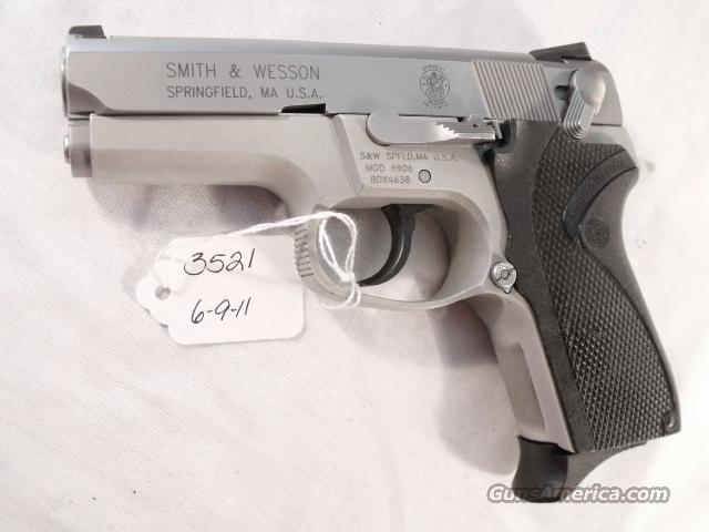 S&W 9mm model 6906 Compact Lightweight Stainless 13 Shot 1 Magazine 1999 California Department of Corrections Smith & Wesson 469 669 Descendant  Guns > Pistols > Smith & Wesson Pistols - Autos > Alloy Frame