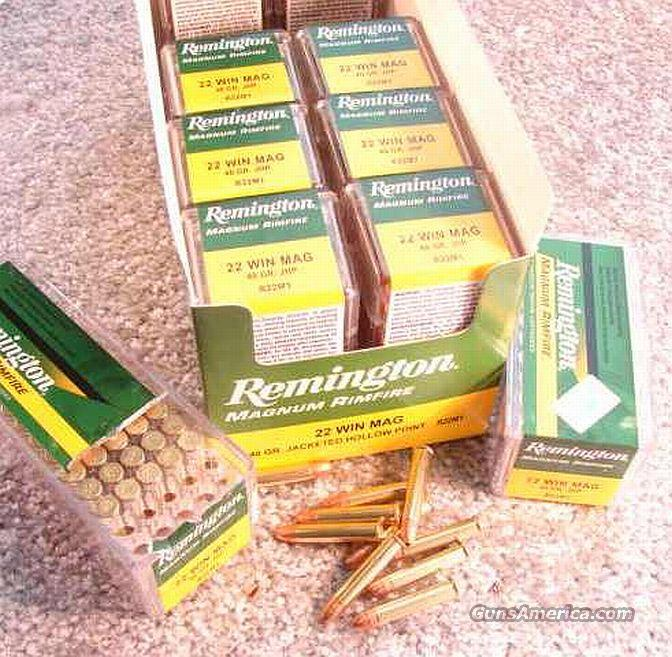 Ammo: .22 Mag Remington 40 gr JHP 500 round Brick of 10 Boxes  Non-Guns > Ammunition