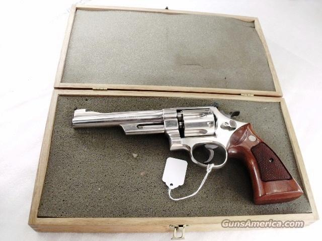Presentation Case Smith & Wesson Factory Walnut S&W Box ca. 1975 for 6 inch N Frame Replacement Period Foam Interior Brass Hinges Ruger Inscription  Non-Guns > Gun Cases