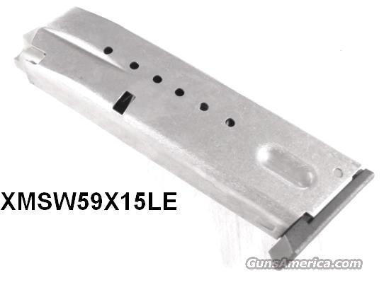Magazine S&W 9mm 5900 type LE 15 Shot Excellent High Capacity Smith & Wesson Model 5903 5904 5906 5946 6906 669 469 59 659 456 5986 5976 Clip Smith & Wesson 190590000 19059   Non-Guns > Magazines & Clips > Pistol Magazines > Smith & Wesson