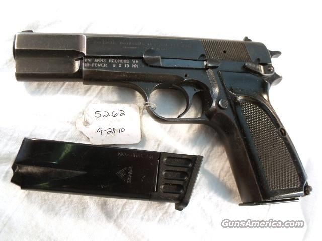 FN Browning 9mm Hi-Power Israeli Good 1985 w/2 Magazines  Guns > Pistols > FNH - Fabrique Nationale (FN) Pistols > High Power Type