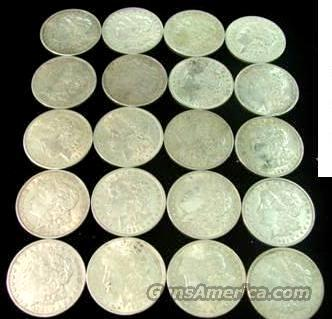Silver: Morgan 1921 Silver Dollars Roll Lots of 20 XF-AU Condition  Non-Guns > Coins