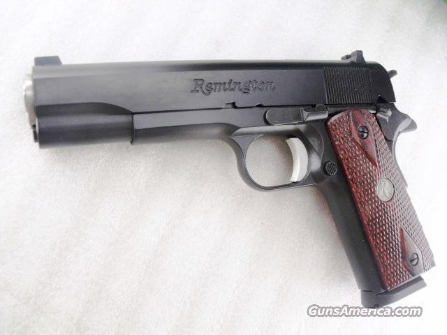 Remington .45 ACP 1911R1 Colt Government Type Talo Special Diamond Checkered Laminated Grips Blue Steel 5 inch Stainless Barrel & Bushing 2 Magazines NIB  Guns > Pistols > Remington Pistols - Modern