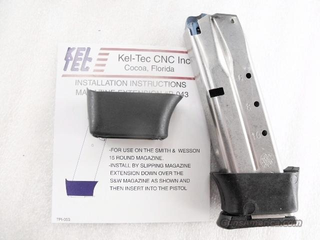 Kel-Tec model P-40 Extension 11 Shot Magazine Factory Smith & Wesson Stainless 4000 series with KelTec Grip Adapter P40   Non-Guns > Magazines & Clips > Pistol Magazines > Other