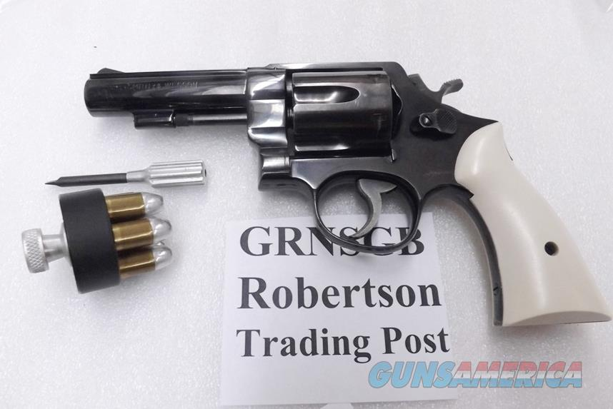 S&W N Frame Square Butt Imitation Gray Bone Ivory Revolver Grips for Smith & Wesson models 27 28 29 GRNSGB Smith & Wesson Smooth Magna Small Type with Screw & Escutcheon  Non-Guns > Gunstocks, Grips & Wood