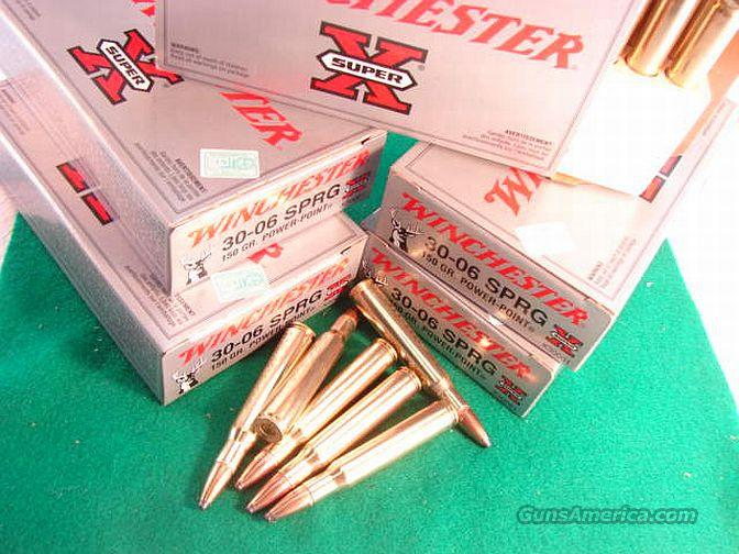 Ammo: .30-06 Winchester 150 gr Power Point 120 round Lot of 6 Boxes  Non-Guns > Ammunition