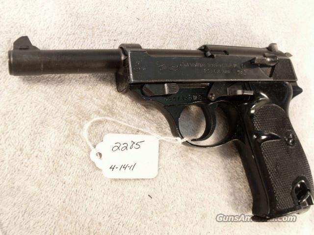 Walther 9mm P-38 Lightweight Parkerized VG 1959 P38 Federal German Police Bundespolizei C&R OK CA OK  Guns > Pistols > Walther Pistols > Post WWII > Large Frame Autos