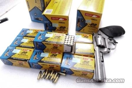 Ammo: .22 LR 1500 round lot of 30 Boxes Aguila Subsonic 1025 fps 38 grain Super Extra Lead Hollow Point 22 Long Rifle Ammunition Cartridges 3 Bricks or Cartons 30 boxes at $4.60 per box  Non-Guns > Ammunition