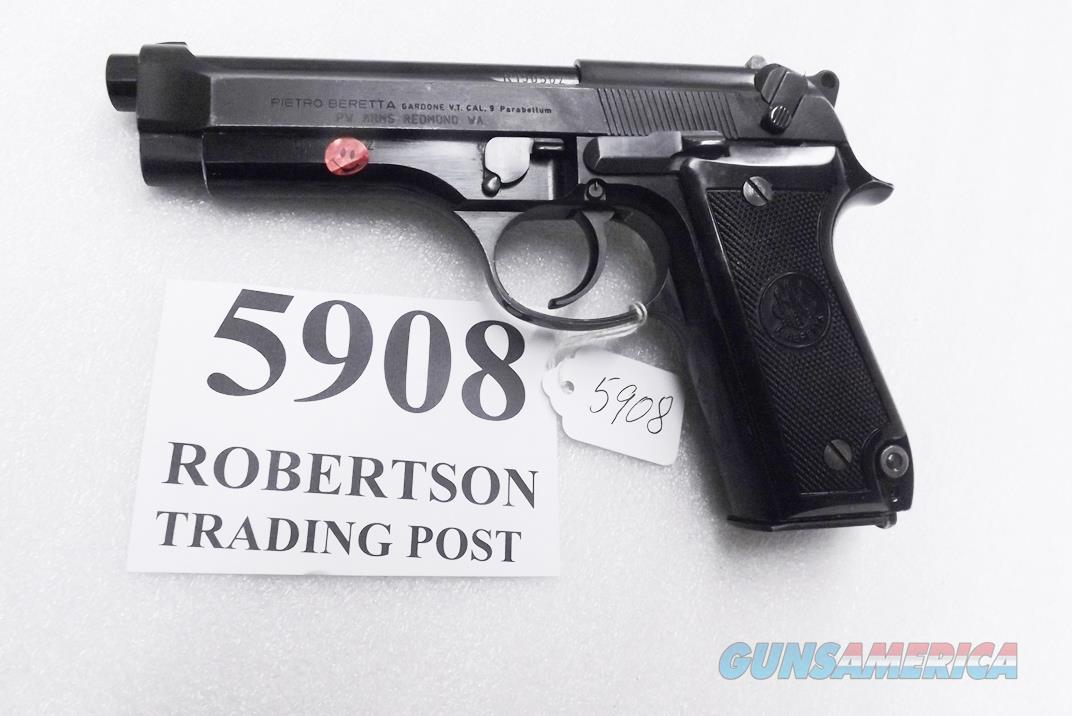 Beretta 9mm model 92S Italy Military Police Italian Carabinieri VG+ JS92F300M type / ancestor c1978 w1 15 round Magazine Factory Gloss Anodized Frame, Oxide Finish Slide & Blue Barrel +GOB  Guns > Pistols > Beretta Pistols > Model 92 Series