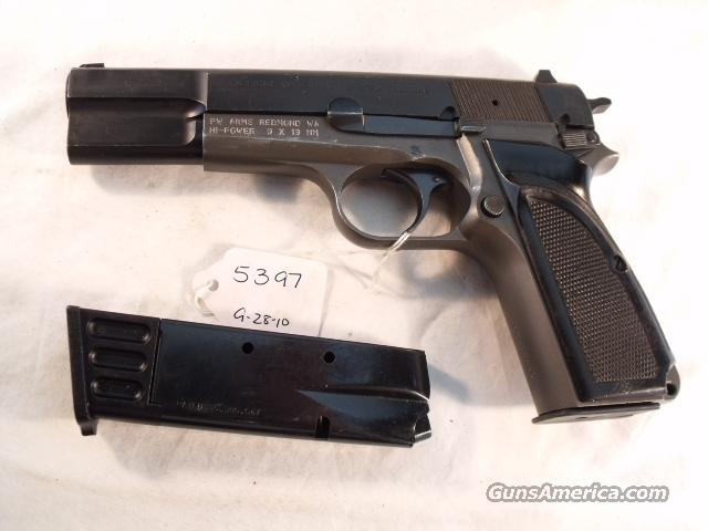 FN Browning 9mm Hi-Power Israeli ca 1967 VG Practical style Parkerized w/2 Magazines High Power HiPower  Guns > Pistols > Browning Pistols > Hi Power