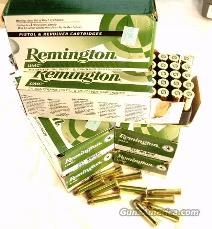 Ammo: .357 Magnum Remington 500 Round Factory Case of 10 Boxes 125 grain JSP Jacketed Soft Point UMC 357 Brass Case Ammunition Cartridges  Non-Guns > Ammunition