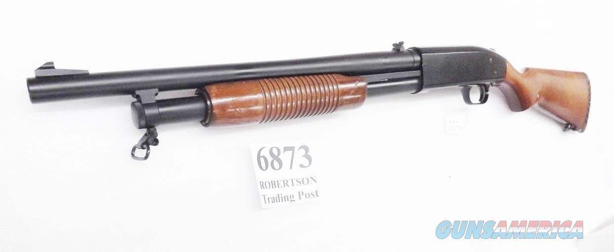 Mossberg 12 gauge model 500 ATP Trench Gun type 18 inch Dura Coat & Checkered Hardwood 1984 Production 3 inch Recoil Pad VG Cond Pre-Mexican  Guns > Shotguns > Mossberg Shotguns > Pump > Tactical