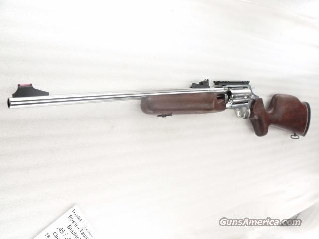 Taurus .45 / .410 Circuit Judge Rossi Braztech 45 Long Colt and 3 inch 410 gauge interchangeably Stainless 18 inch 5 Shot Exc in Box  Guns > Shotguns > Rossi Shotguns