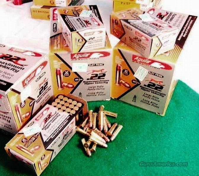 Ammo: .22 LR 2000 round lot of 40 Boxes Stinger Competitor Aguila Super Max 1750 fps 30 grain 22 Long Rifle HP Ammunition Cartridges 4 Bricks or Cartons 4x$67.25  Non-Guns > Ammunition