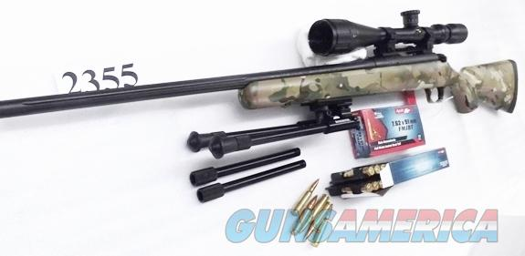 Mossberg .308 Night Train ATR 100 Camo Synthetic & Matte Blue 22 inch Fluted 6x18x40 FM Scope Bipod Picatinny Rail LBA Accu Trigger Exc Factory Demo 308 Winchester Caliber 27205 Bolt Action 308 Rifle  Guns > Rifles > Mossberg Rifles > 100 ATR