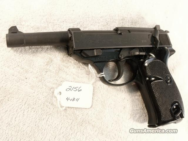 Walther 9mm P-38 Lightweight Parkerized VG 1962 P38 Federal German Police Bundespolizei C&R CA OK in 2012  Guns > Pistols > Walther Pistols > Post WWII > P-38