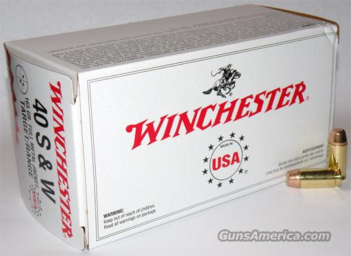 Ammo: .40 S&W Winchester 180 FMC 300 round Lot of 6 Boxes  Non-Guns > Ammunition