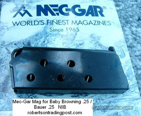 Clip for Browning Baby .25 ACP Mec-Gar NIB  Non-Guns > Magazines & Clips > Pistol Magazines > Other