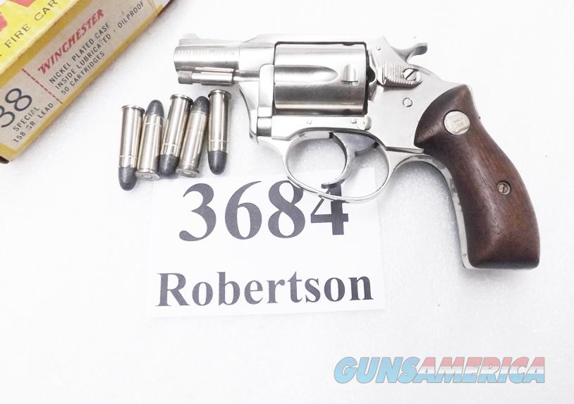 Charter Arms .38 Special Undercover 2 inch Nickel 5 Shot Lightweight Snub ca 1973 Bridgeport Production Good Walnut Grips    Guns > Pistols > Charter Arms Revolvers